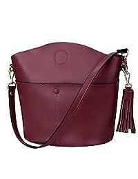 S-ZONE Women's Cowhide Genuine Leather Small Purse Handbag Crossbody Shoulder Bag