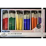 "Royal Brush RCVP-108 Classroom Value Pack, Round Brushes, Assorted"" Size"