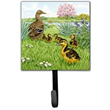 Caroline's Treasures ASAD0693SH4 Mallard And Ducklings By Sarah Adams Leash Or Key Holder, Small, Multicolor