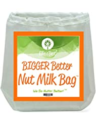 "PRO QUALITY NUT MILK BAG - 12""X12"" Commercial Grade - Multiple Usage Reusable ALL PURPOSE Food Strainer - Ultra Fine Mesh Food Grade BPA Free Nylon - For Yogurt & Cold Brew Too - Free Recipes & Videos"