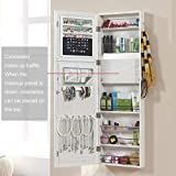 GISSAR Jewelry Mirror Armoire Wall Mount Over The