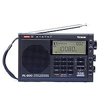 XHDATA® TECSUN PL-600 FM Radio Stereo MW/SW-SBB/PLL Synthesized Digital Tuning Full-Band Radio Receiver PL600 Radio