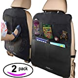 MyTravelAide Kick Mats with Car Backseat Organizer -...