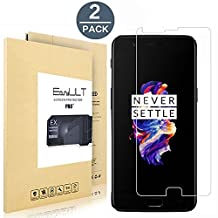 [2 pack] OnePlus 5 Screen Protector, EasyULT Premium Tempered Glass Screen Protector,with Double Defense Technology with [2.5D Round Edge] [9H Hardness] [Crystal Clear] [Scratch Resist] [No-Bubble]