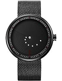 Stylish Men's Quartz Watch with Black Unique Dial Design...