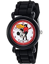 Boy's 'Mickey Mouse' Quartz Plastic and Silicone Casual Watch, Color:Black (Model: WDS000141)