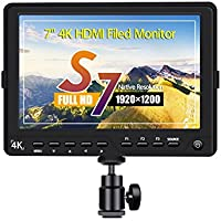 Eyoyo S7 7 Inch 1920x1200 Ultra HD 4K HDMI Field Video Monitor IPS LCD Screen for Canon Nikon Sony Olympus Pentax Panasonic DSLR Camera Camcorder