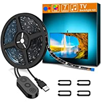 Minger 6.56ft Led Waterproof Strip Lights for TV and PC w/Built-in MIC