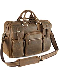 Kattee Multi-Pocket Top Leather Messenger Bag
