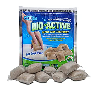 Walex BIO-31112 Bio-Active Drop-Ins Septic Additive, 12 Pack, 1 years supply, Multi-Color