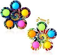 Gigilli Fidget Spinner Toys Simple Pop, Stress Relief Popping Finger Spinner, ADHD Push Pop-Bubble Fidget Sens