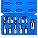 Neiko 10071A Torx Bit Socket Set, Metric, T8-T60
