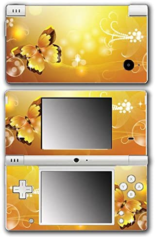 Beautiful Orange Yellow Butterfly Flower Art Video Game Vinyl Decal Skin Sticker Cover for Nintendo DSi System
