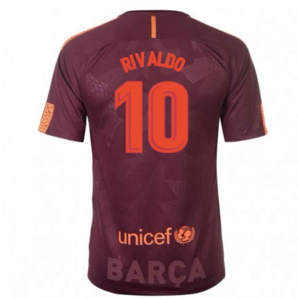 2017-18 Barcelona Nike Third Football Soccer T-Shirt Trikot (Rivaldo 10) - Kids