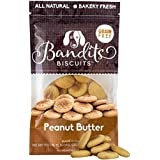 Bandit's Biscuits All Natural Healthy Grain Free Dog Treats Peanut Butter Dog Cookies 10oz Made in The USA Only