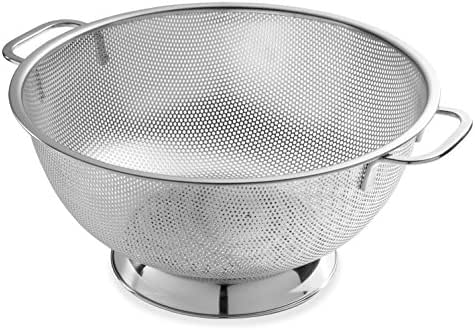 Bellemain Micro-perforated Stainless Steel 5-quart Colander-Dishwasher Safe