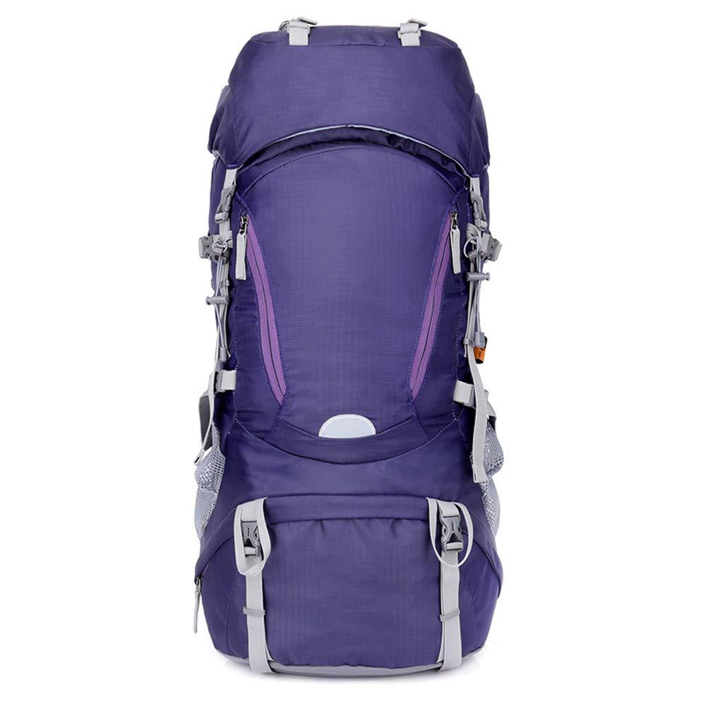 violet  ZJY étanche Randonnée Sac à Dos 60L Sport en Plein Air Daypack Voyage pour Escalade Camping Randonnée Alpinisme Pêche Sac avec Housse De Pluie
