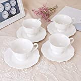 Eileen's Reserve New Bone China Pure White Teacup
