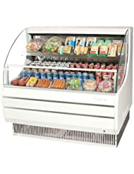 Turbo Air TOM40L 39 Low Profile Display Merchandiser with Modern Design Attractive Glass Sides Environmental Friendly Refrigeration System Standard Back-Guard and Anti-Rust Coating: