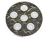 Passover Seder Plate Black Marble Design by Godinger