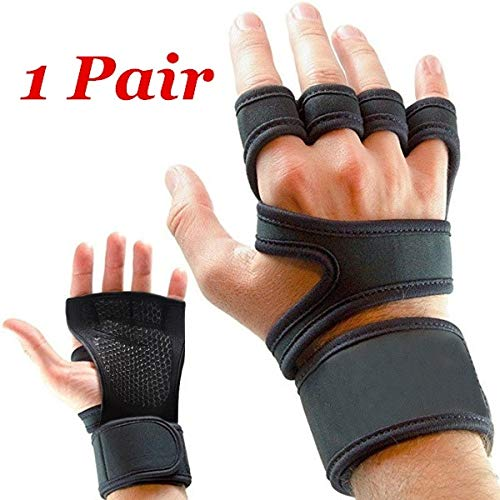GymWar Workout Gloves with Wrist Support for Gym Workouts, Pull Ups, Cross Training, Weightlifting, Calisthenics, WOD, Exercise – Silicone Padding Price & Reviews