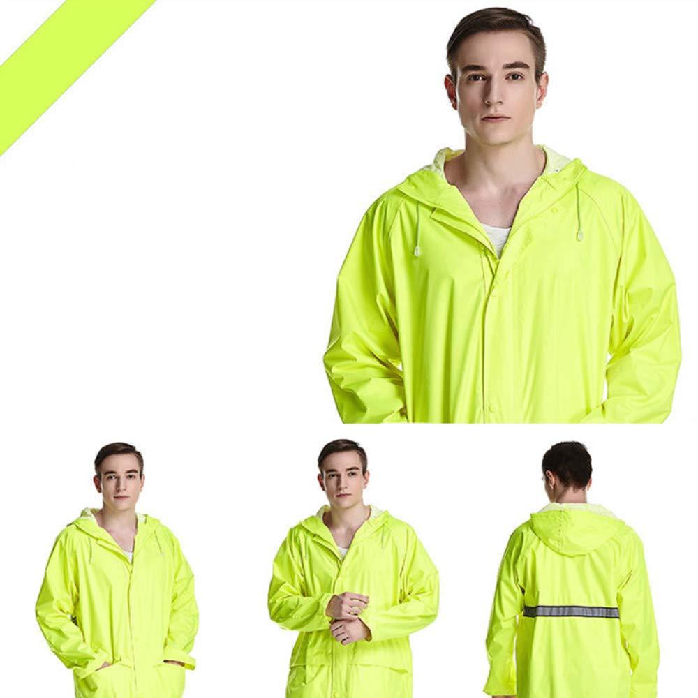 Fluorescent jaune XXXXL DRHYSFSA VêteHommests de Pluie Imperméable imperméable imperméable imperméable à la Pluie de Veste de Pluie de Manteau de Pluie de Couple de Poncho de Couple léger Imperméable ex