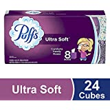 Puffs Ultra Soft Facial Tissues, 24 Cubes, 56 Tissues per Cube