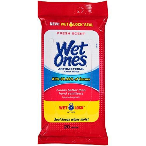 Wet Ones Antibacterial Hand Wipes 20 Count Pack Of 10