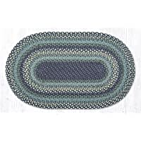 27X45 Blueberries and Cream Oval Braided Rug