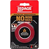LePage No More Nails Mounting Tape, Heavy Duty, 1.5m x 19mm (778548)