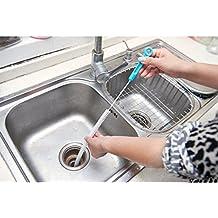 Drain cleaner tool - 71cm Long Flexible Sink Overflow Drain Dredge Cleaning Brush Cleaner Kitchen Tool -Nylon cleaning brush