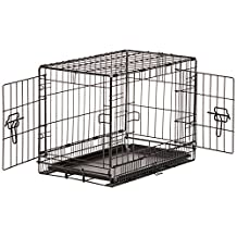 AmazonBasics Double-Door Folding Metal Dog Crate - 22 Inches