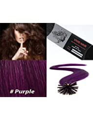 Amazon purple hair extensions extensions wigs vivid hair 25 strands straight micro ring links locks pmusecretfo Choice Image