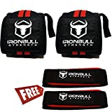 "Wrist Wraps (20"" Premium Quality) & Lifting Straps (Bundle Pack), Heavy Duty Wrist Support with Thumb Loop, Pair of Two Wrist Wraps with Pair of Two Wrist Straps for Weight Training"