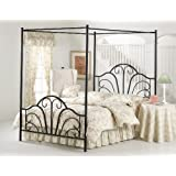 Hillsdale Furniture 348BQP Dover Bed Set with Canopy and Legs, Queen, Textured Black