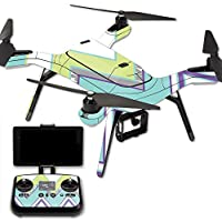 MightySkins Protective Vinyl Skin Decal for 3DR Solo Drone Quadcopter wrap cover sticker skins Pastel Chevron