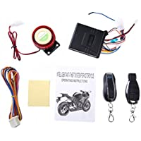 Farsler 125dB Motorcycle Bike Anti-theft Security Alarm System Autocycle Immobiliser Sensor Double Remote Control Engine Start 12V Alarm for Motorcycle (Anti-line cutting)