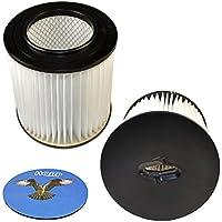 HQRP 2-pack 7 Filter for Royal CS820, CS620, CS600, CS400, CS800 H-P Central Vacuum Systems, 8106-01 Replacement + HQRP Coaster