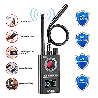 Anti Spy Detector, ZOTO Upgraded Version Hidden Camera Detectors Camera Finder Wireless Bug Detector Radio Frequency RF Detector Listening Device Detector
