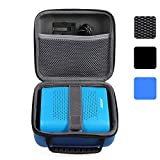 BOVKE for Bose Soundlink Color Wireless Bluetooth Speaker / for UE ROLL 360 Wireless Bluetooth Speaker Hard EVA Shockproof Carrying Case Storage Travel Case Bag Protective Pouch Box, Blue