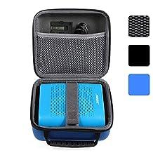 BOVKE for Bose Soundlink Color Wireless Bluetooth Speaker / for UE ROLL 360 Wireless Bluetooth Speaker Hard EVA Shockproof Carrying Case Storage Travel Case Bag Protective Pouch Box, Blue