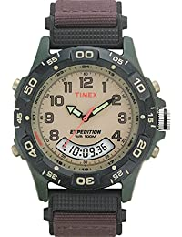 Timex Men's T45181GP Expedition Resin Green Dial Wrist Watch