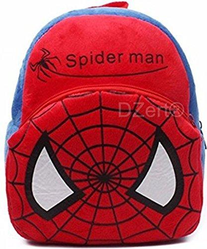 Kids School Bag Soft Plush Backpack Cartoon Toy, Children's Gifts Boy Girl/Baby/ Decor School Bag for Kids (Spiderman)