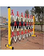 Mobile Folding Barrier, Retractable Queue Control Post, Sturdy Frp Tube Insulation Crowd Control Easy to Transport with Pulley for Mall, Construction Fence Lsxiao