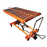 1,100 lb Hydraulic lift Table with Rollers