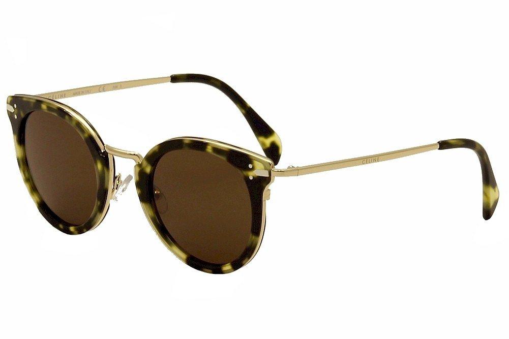 d7c8f8410a Celine Women s 41373 Green Tortoise   Gold Frame Brown Lens Metal Plastic  Sunglasses