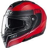 HJC i90 Davan Modular Helmet Black/Red XS
