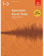 Abrsm specimen aural tests - grades 1-3 (2011+) book only: new edition from 2011