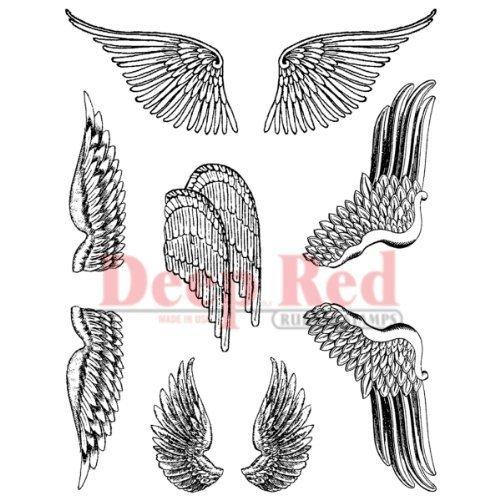 Deep rot Stamps Wings Rubber Stamp Set by Deep rot Stamps B017RS284I | Wirtschaftlich und praktisch