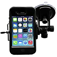 Smartphone - Cell Phone Windshield Car Mount Holder for iPhone SE 8 8 Plus X 7 7 Plus 6S 6S Plus 6 6 Plus 5S 5C 5 4S 4 Samsung Galaxy S8 S7 Edge S7 S6 S5 S4 S3 S2 and more by DaVoice